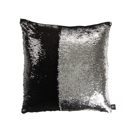Black And Silver Decorative Pillows : Black Silver Mermaid Pillow ? Mermaid Pillows