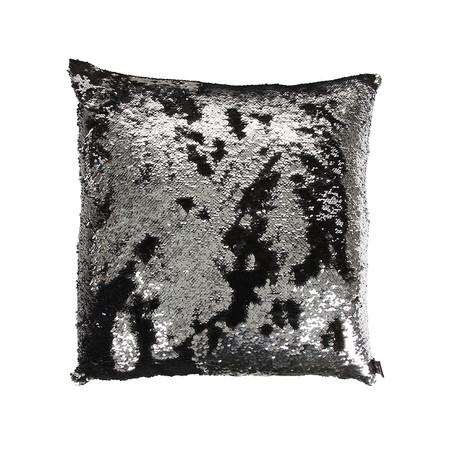 Black Silver Mermaid Pillow Mermaid Pillows