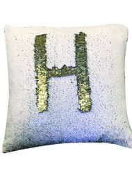 White Gold Mermaid Pillow B