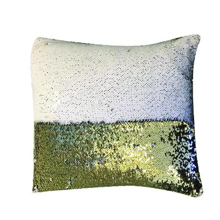 White Gold Mermaid Pillow C